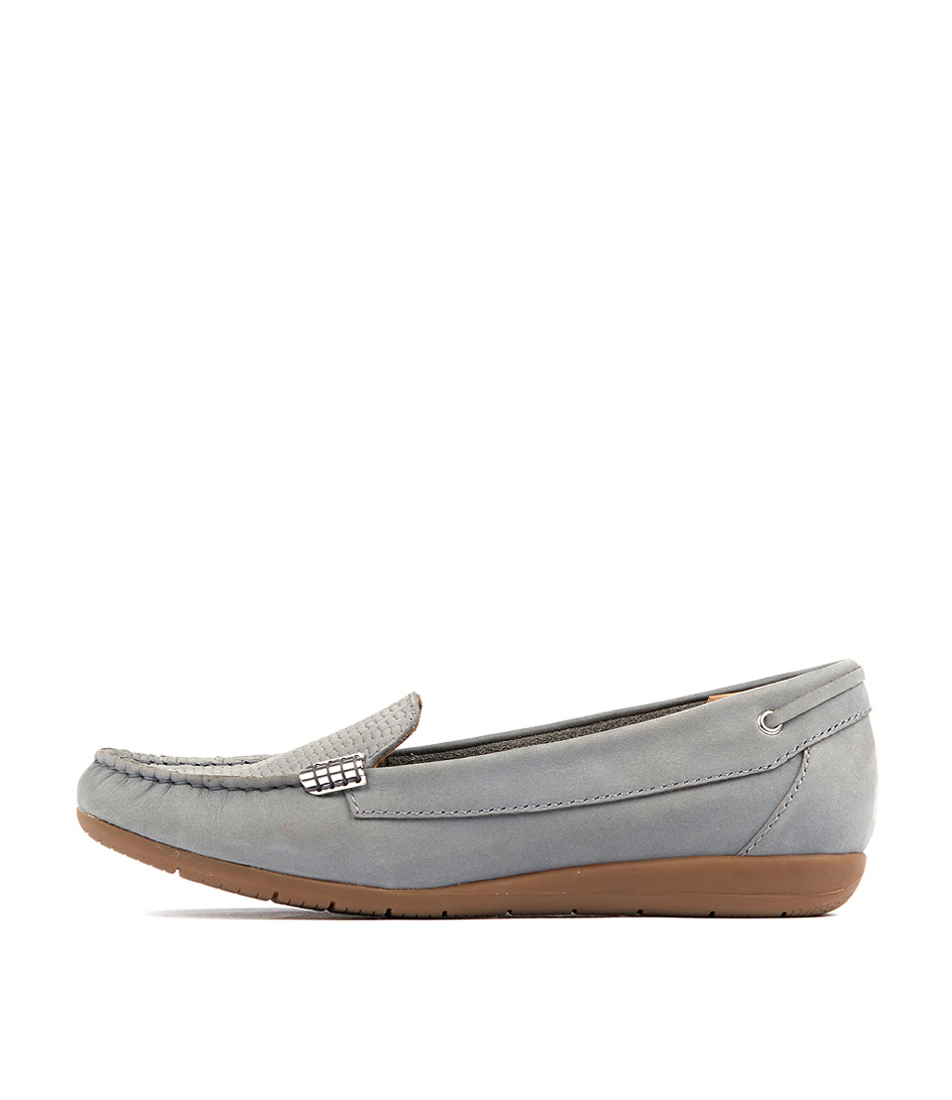 Buy Supersoft France Grey Flats online with free shipping