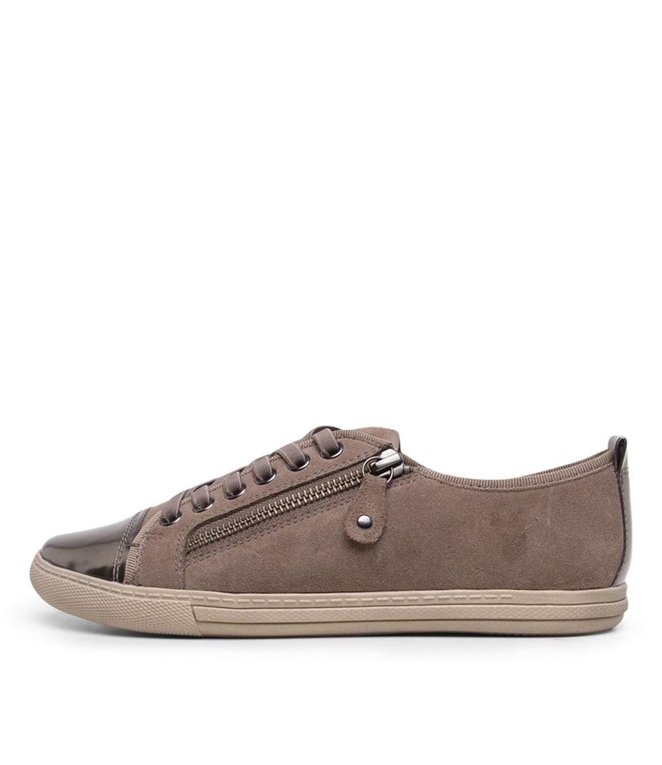 Buy Supersoft Alfie Su Taupe Gunmetal Sneakers online with free shipping