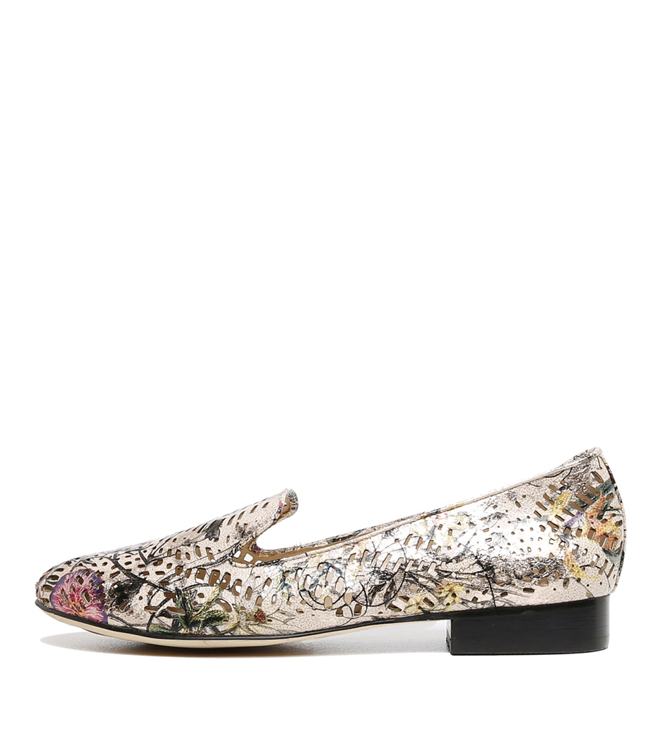 Buy I Love Billy Azzie Nude Metallic Multi Flats online with free shipping