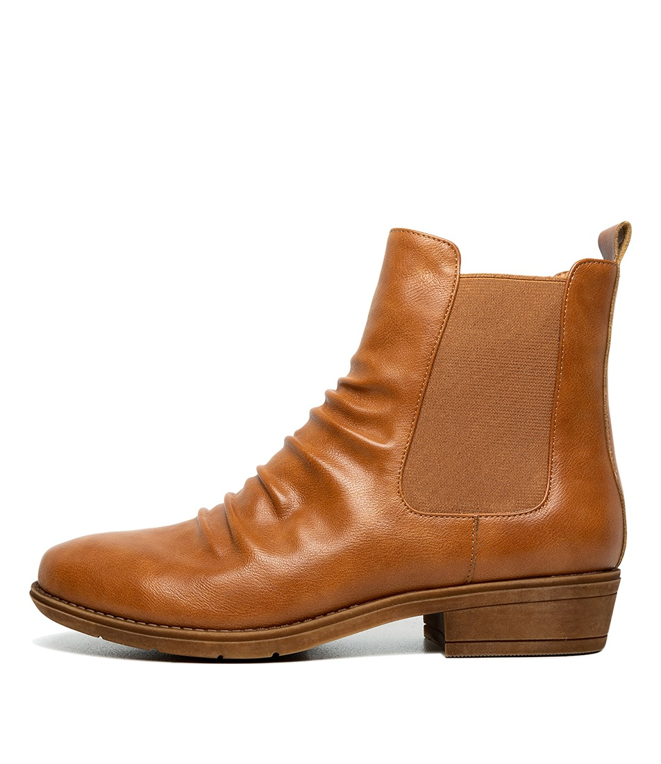 Buy I Love Billy Rufuser Rich Tan Ankle Boots online with free shipping