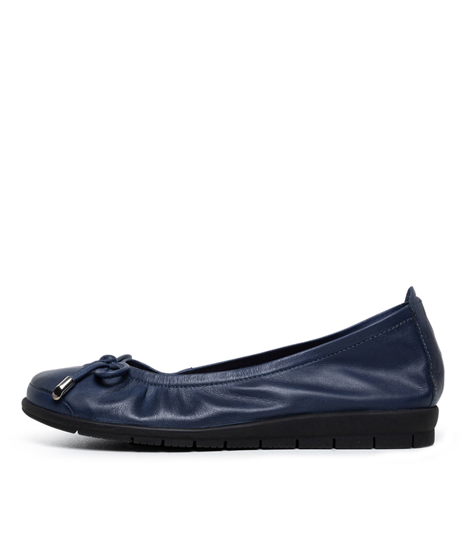 Buy Supersoft Flex2 Su Navy Flats online with free shipping