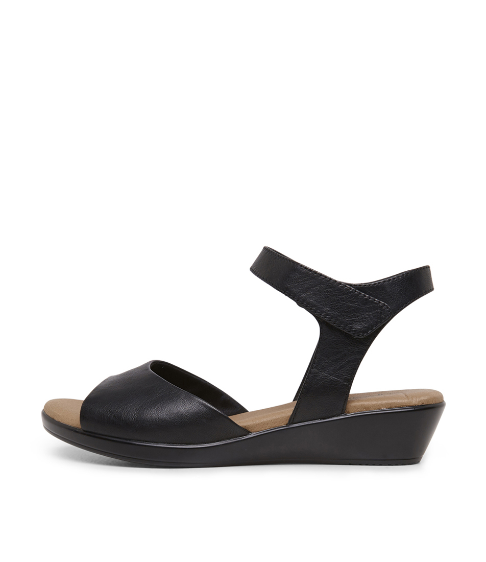 Buy Supersoft Vanstone Su Black Flat Sandals online with free shipping