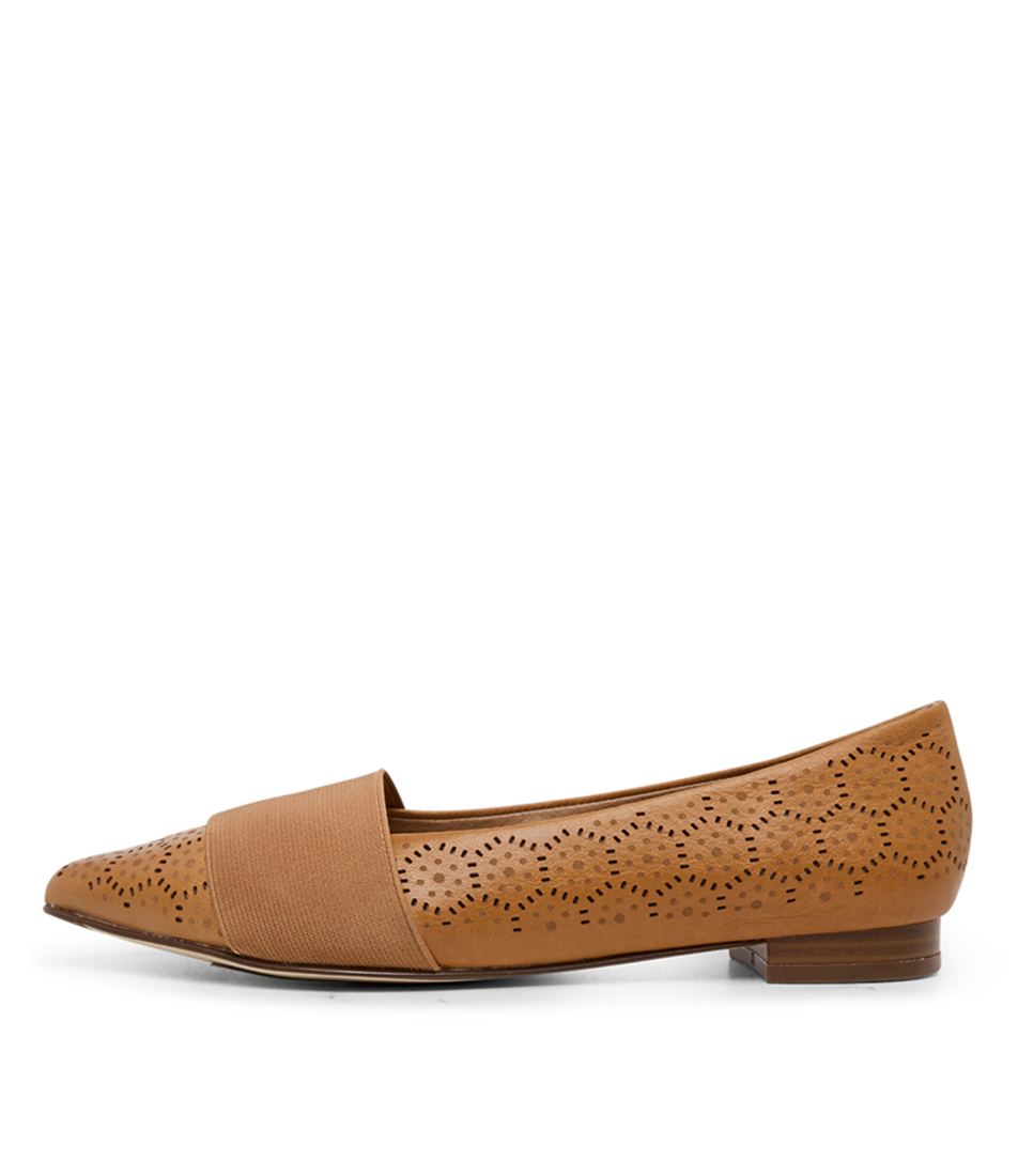Buy Diana Ferrari Carousel2 Tan Flats online with free shipping