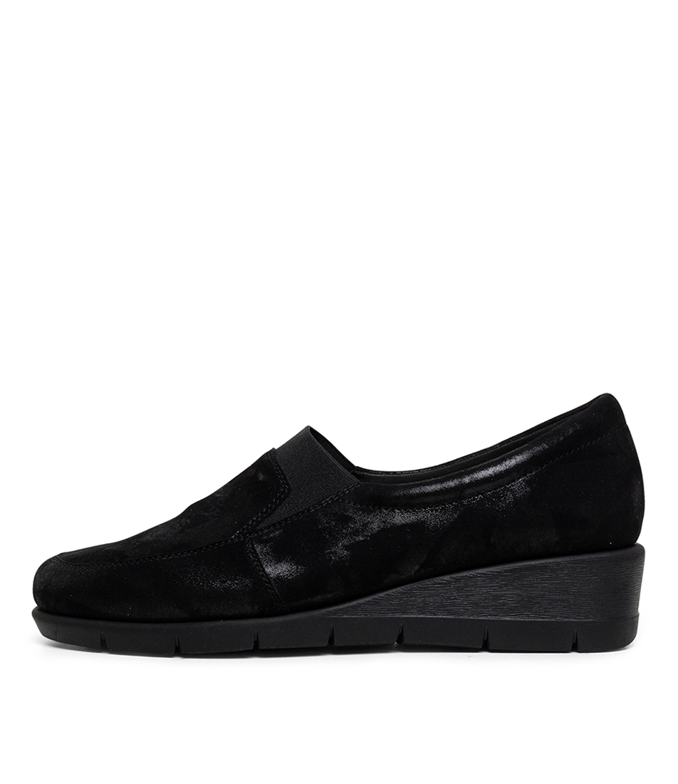 Buy Supersoft Miranne Su Black Shimmer Flats online with free shipping
