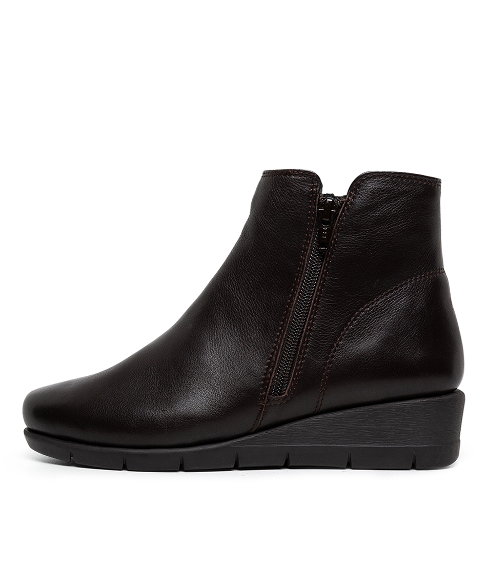 Buy Supersoft Mysaria Su Dark Brown Comfort Ankle Boots online with free shipping