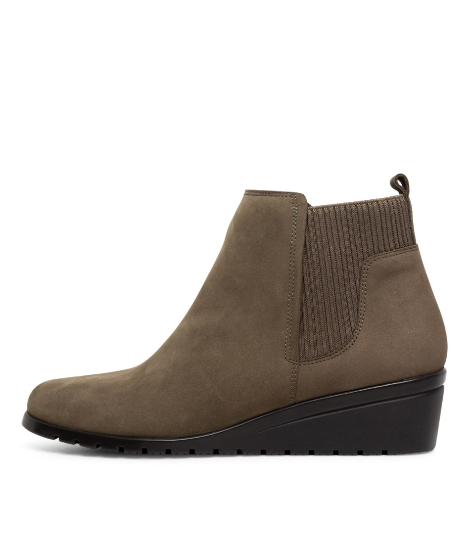 Buy Supersoft Sunrise Su Olive Ankle Boots online with free shipping
