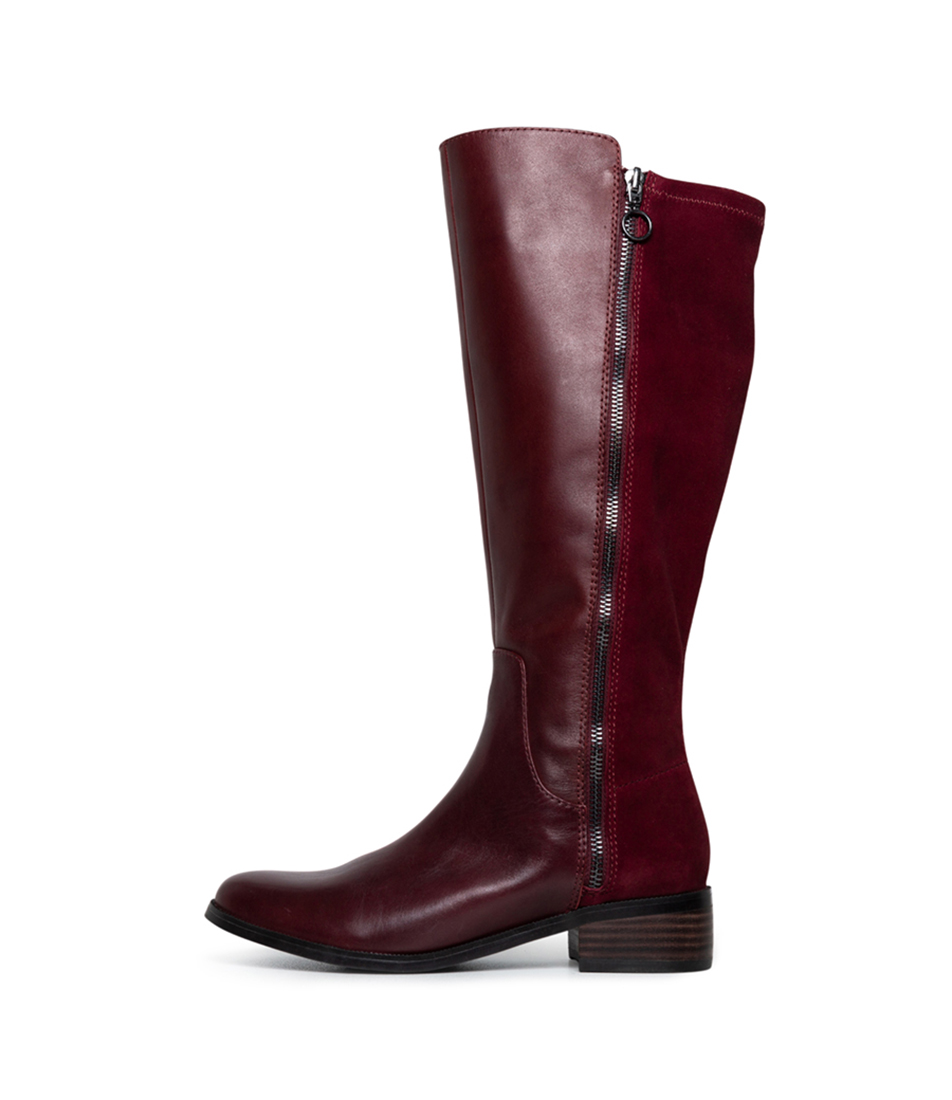 Buy Diana Ferrari Alary Df Dark Crimson Boots online with free shipping