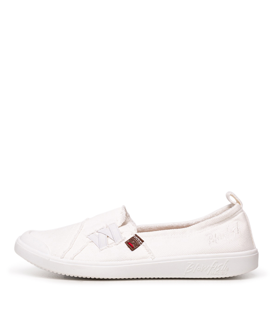 Buy Blowfish Venus Bw White Flats online with free shipping