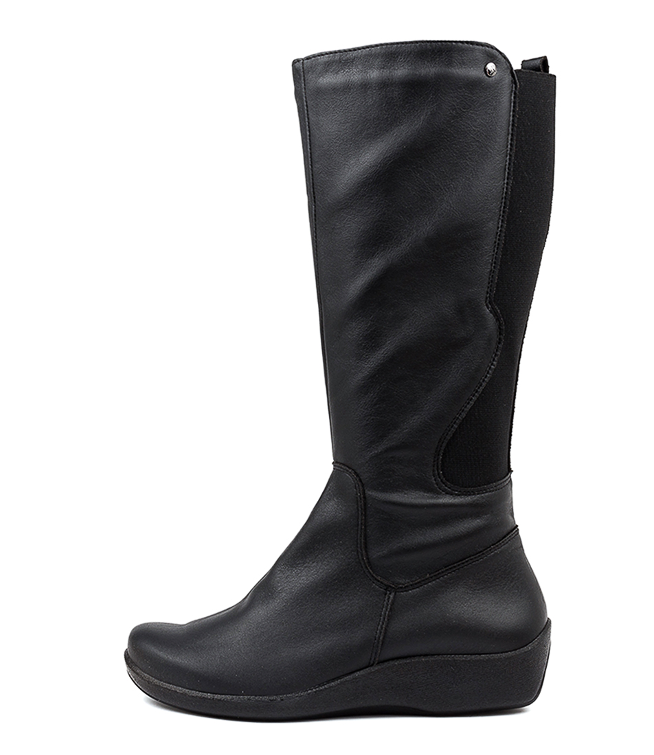 Buy Arcopedico Petra Lytech Black Comfort Long Boots online with free shipping