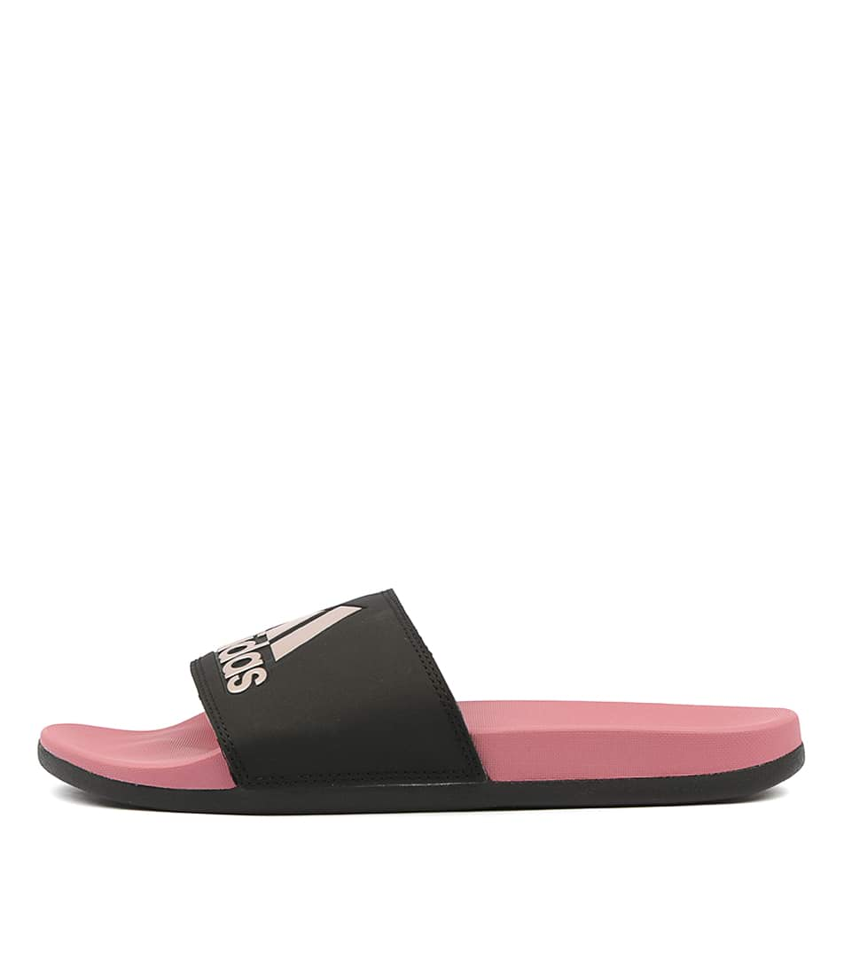Buy Adidas Adilette Comfort W Black Pink Flat Sandals online with free shipping