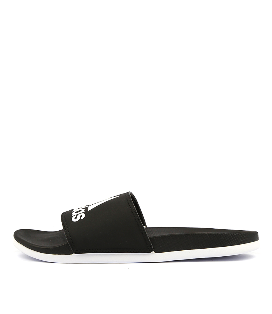 Buy Adidas Adilette Comfort W Black White Sandals online with free shipping
