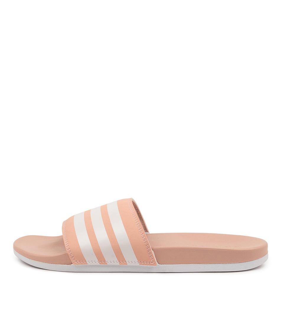 Buy Adidas Adilette Comfort W Vap Pink White Flat Sandals online with free shipping