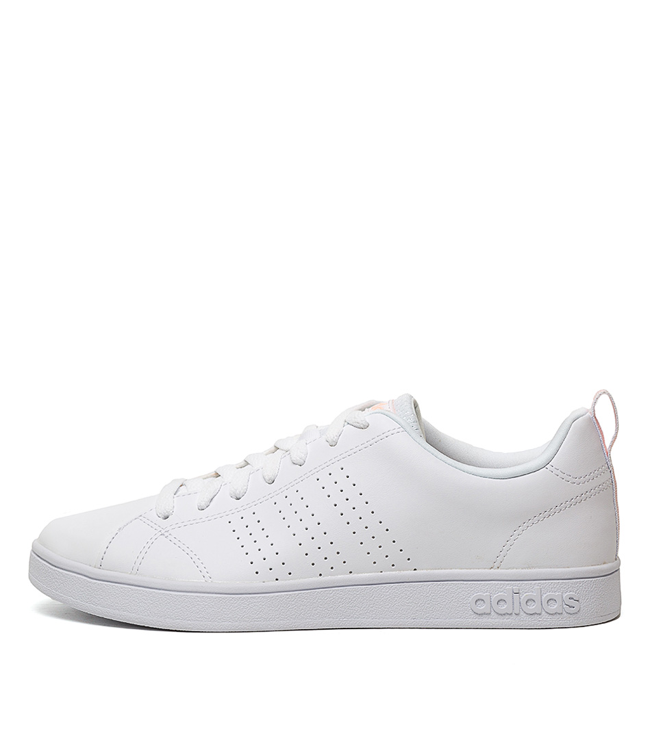 Buy Adidas Vs Advantage Cl W White Pink Sneakers online with free shipping