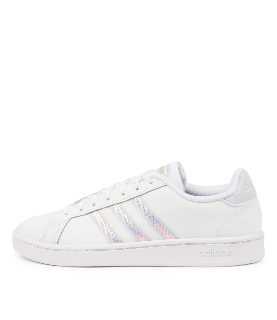 Buy Adidas Grand Court W White Blue Blue Sneakers online with free shipping