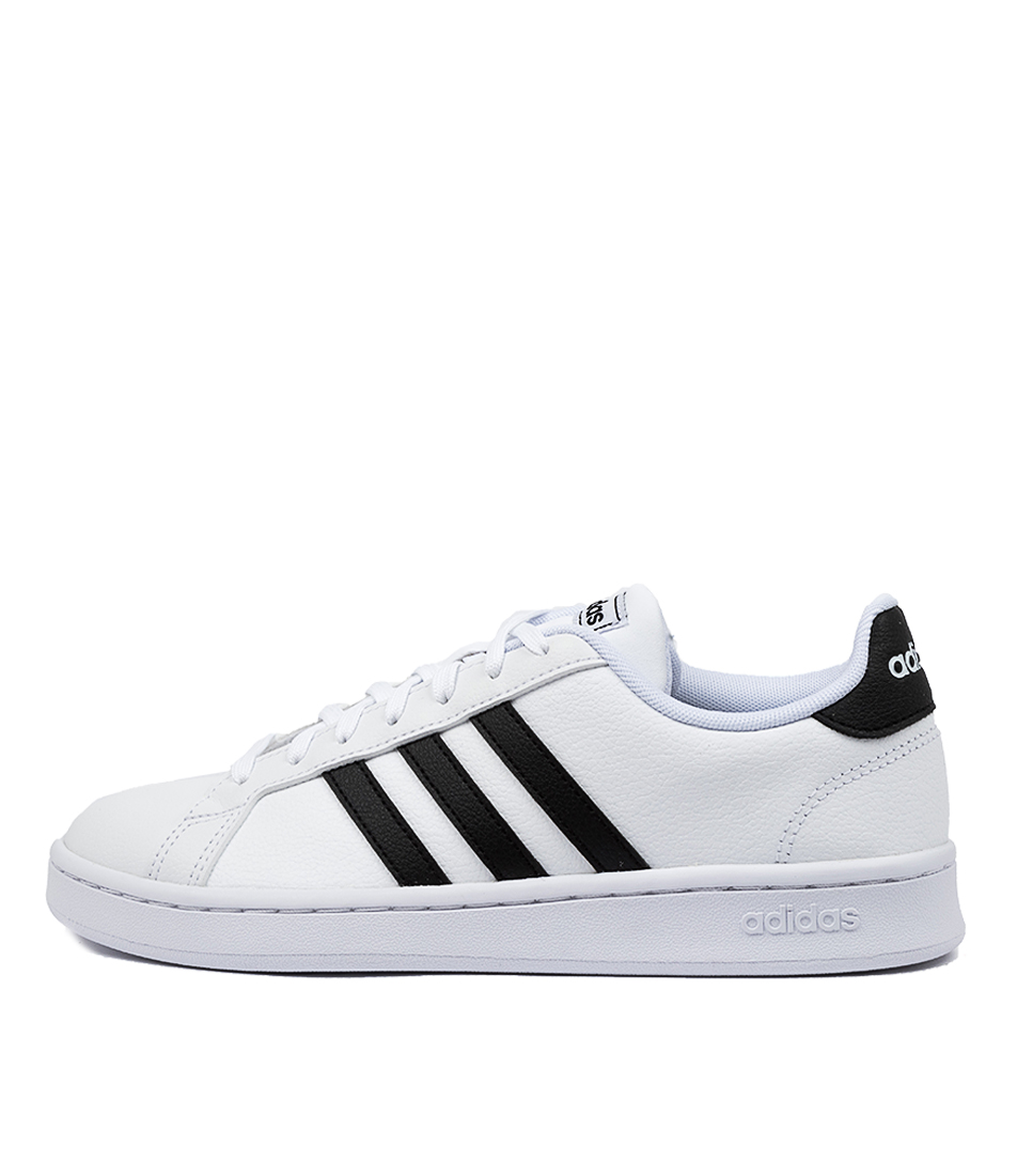 Buy Adidas Grand Court W White Black Sneakers online with free shipping