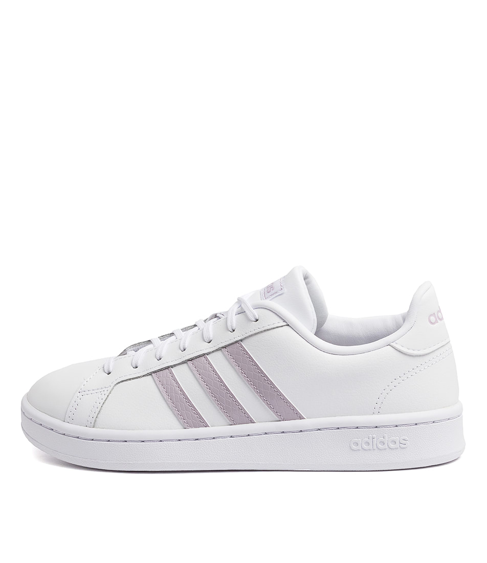 Buy Adidas Grand Court W White Mauve Grey Sneakers online with free shipping