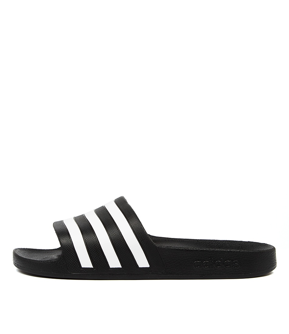 Buy Adidas Adilette Aqua W Black White Sandals online with free shipping