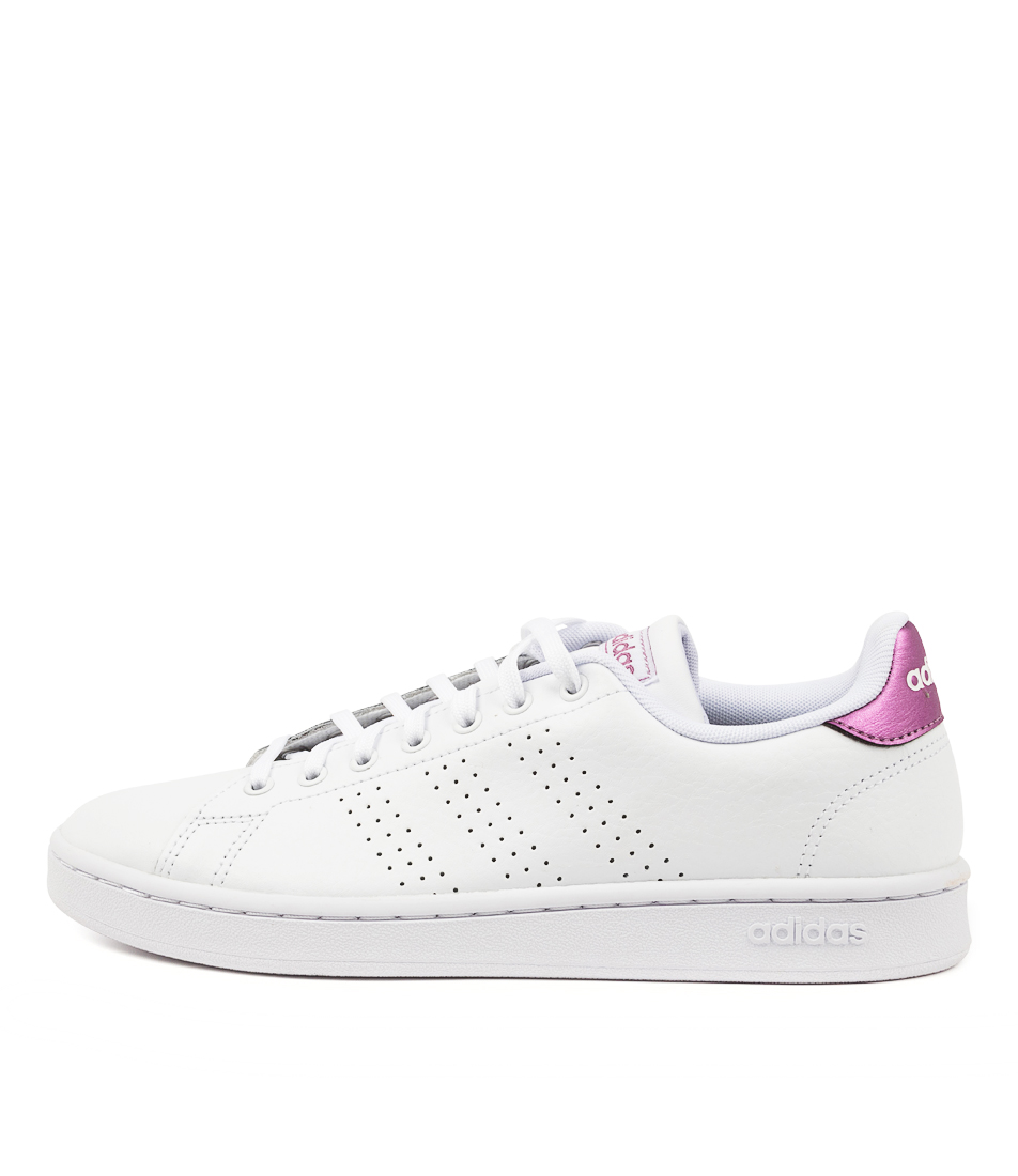 Buy Adidas Advantage W White White Cherry Sneakers online with free shipping