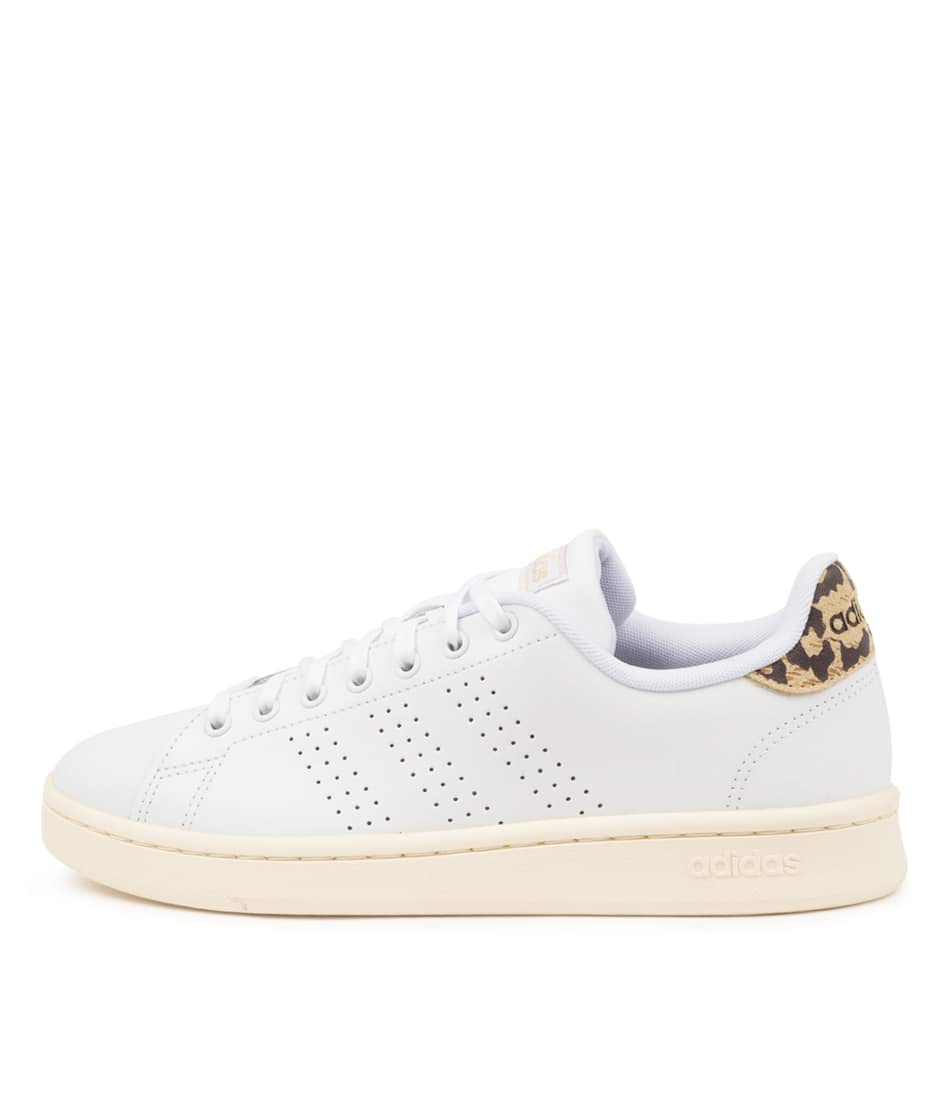 Buy Adidas Advantage W White White Gold Sneakers online with free shipping
