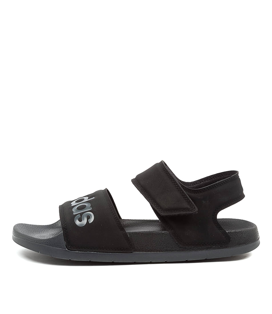 Buy Adidas Adilette W Ad Black Grey Black Flat Sandals online with free shipping