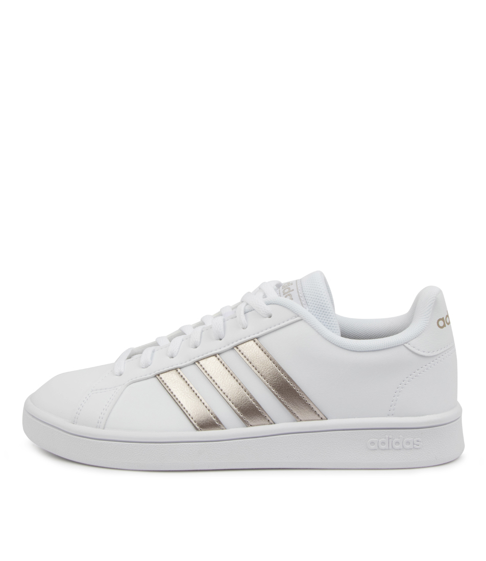 Buy Adidas Grand Court Base W Ad White Platinum Sneakers online with free shipping