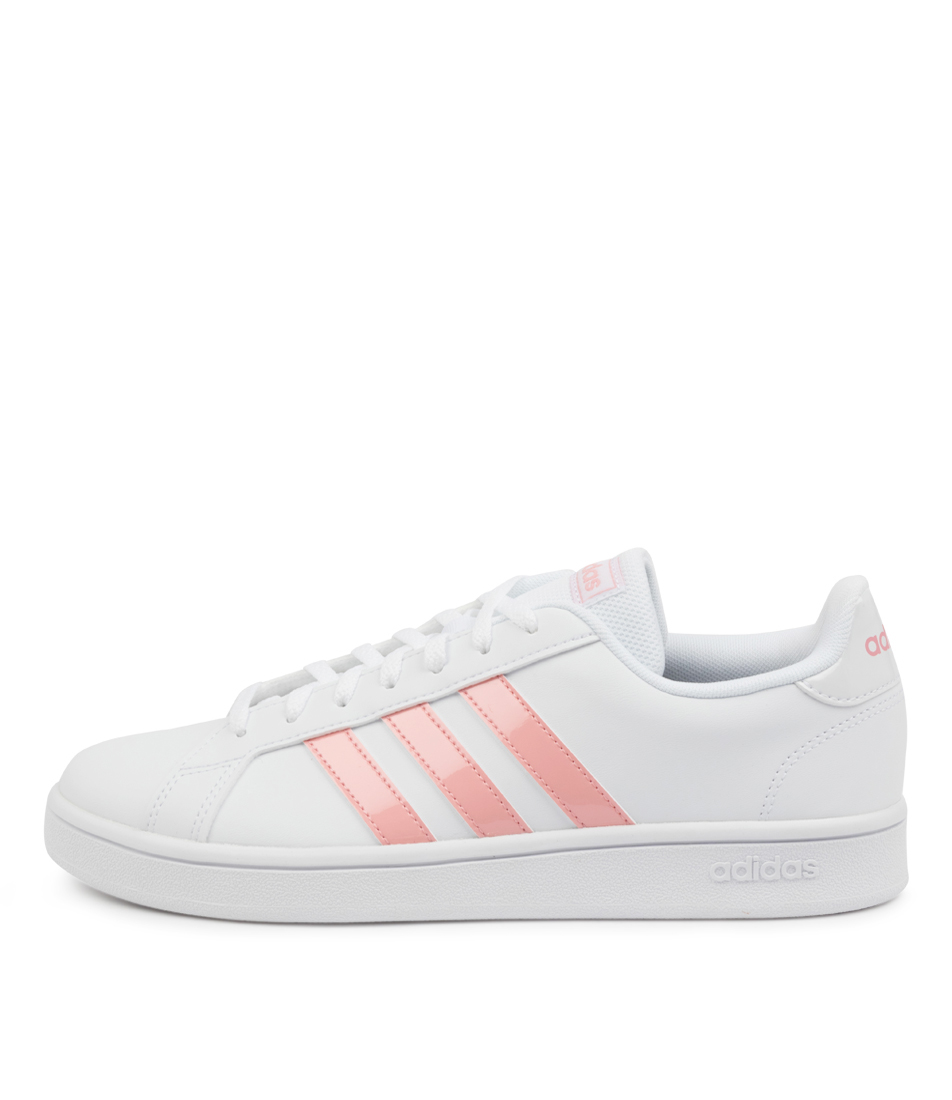 Buy Adidas Grand Court Base W Ad White Pink White Sneakers online with free shipping