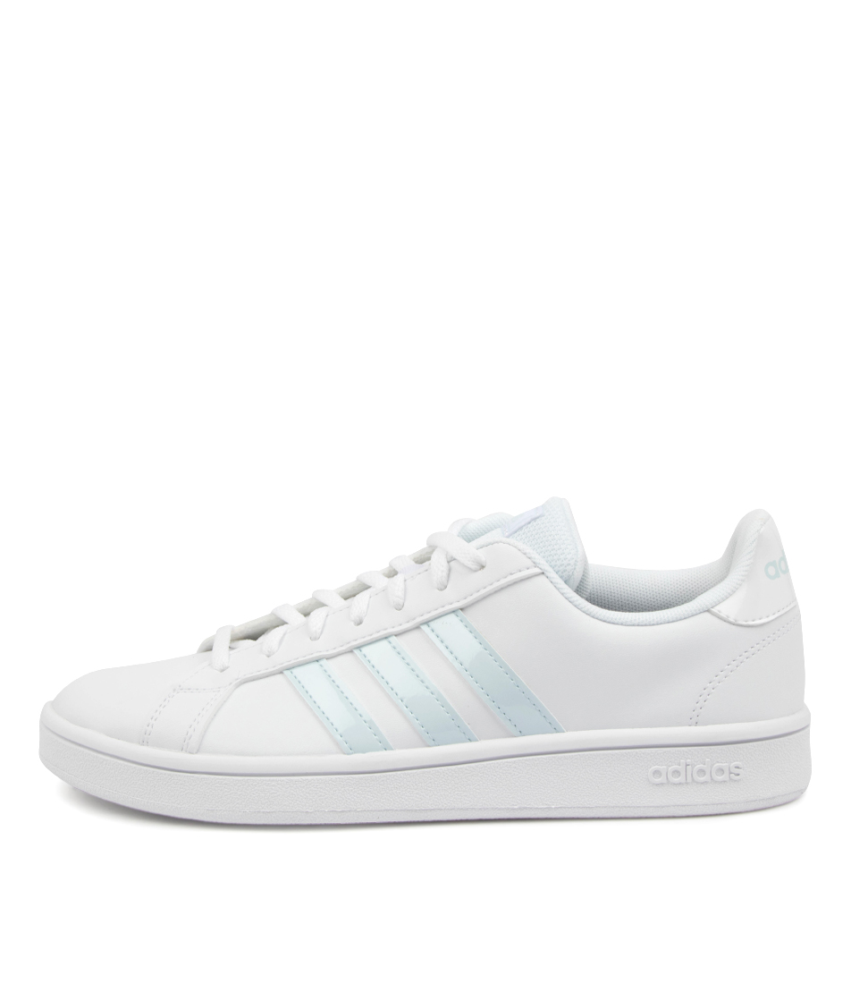 Buy Adidas Grand Court Base W Ad White Sky Grey Sneakers online with free shipping