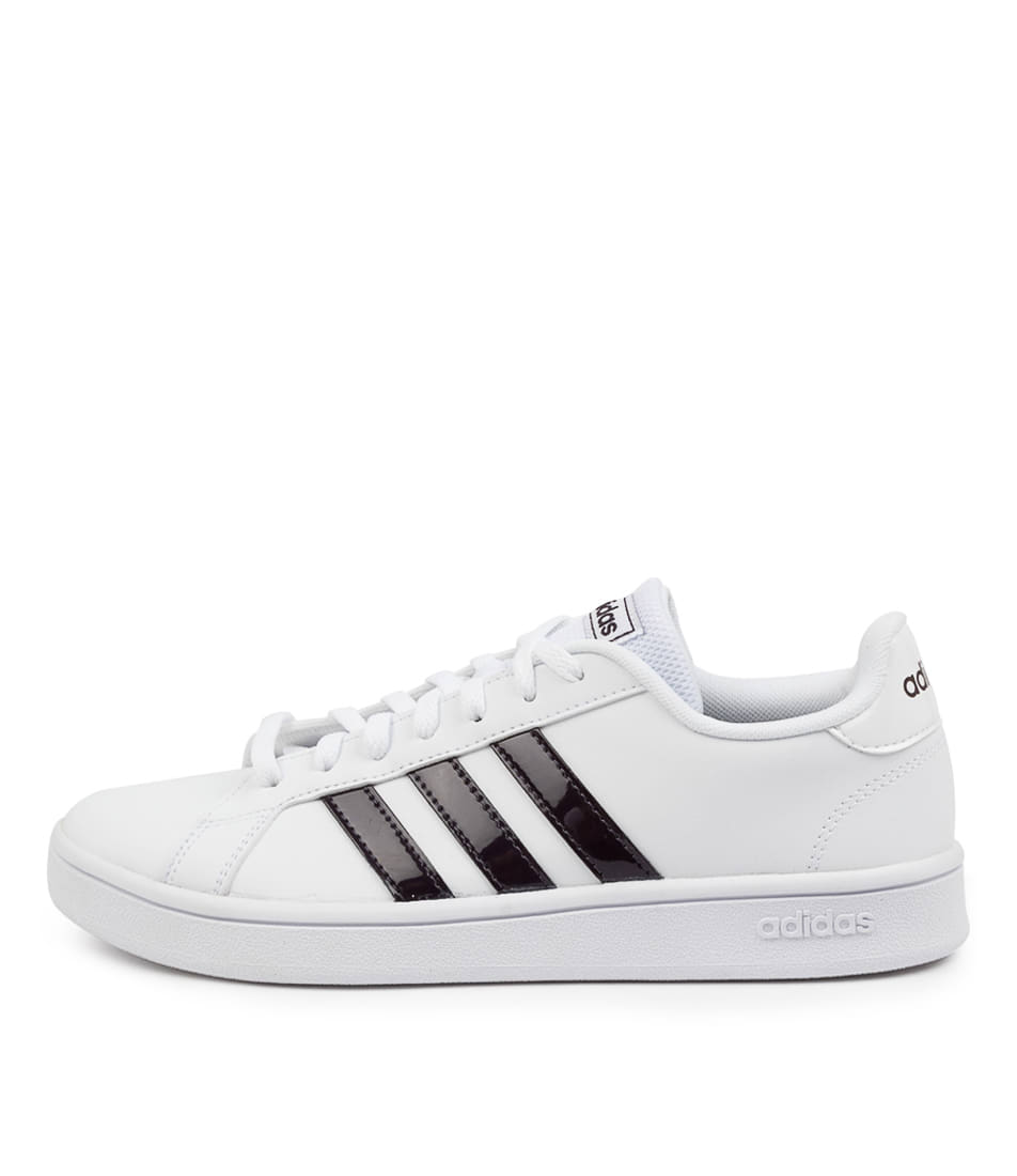 Buy Adidas Grand Court Base W Ad White Purple Grey Sneakers online with free shipping