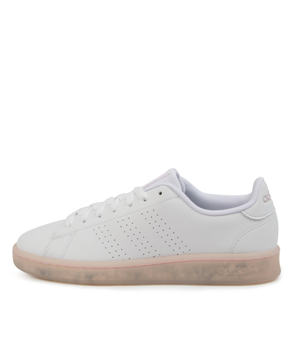 Buy Adidas Advantage Eco W Ad White White Clr Pink Sneakers online with free shipping