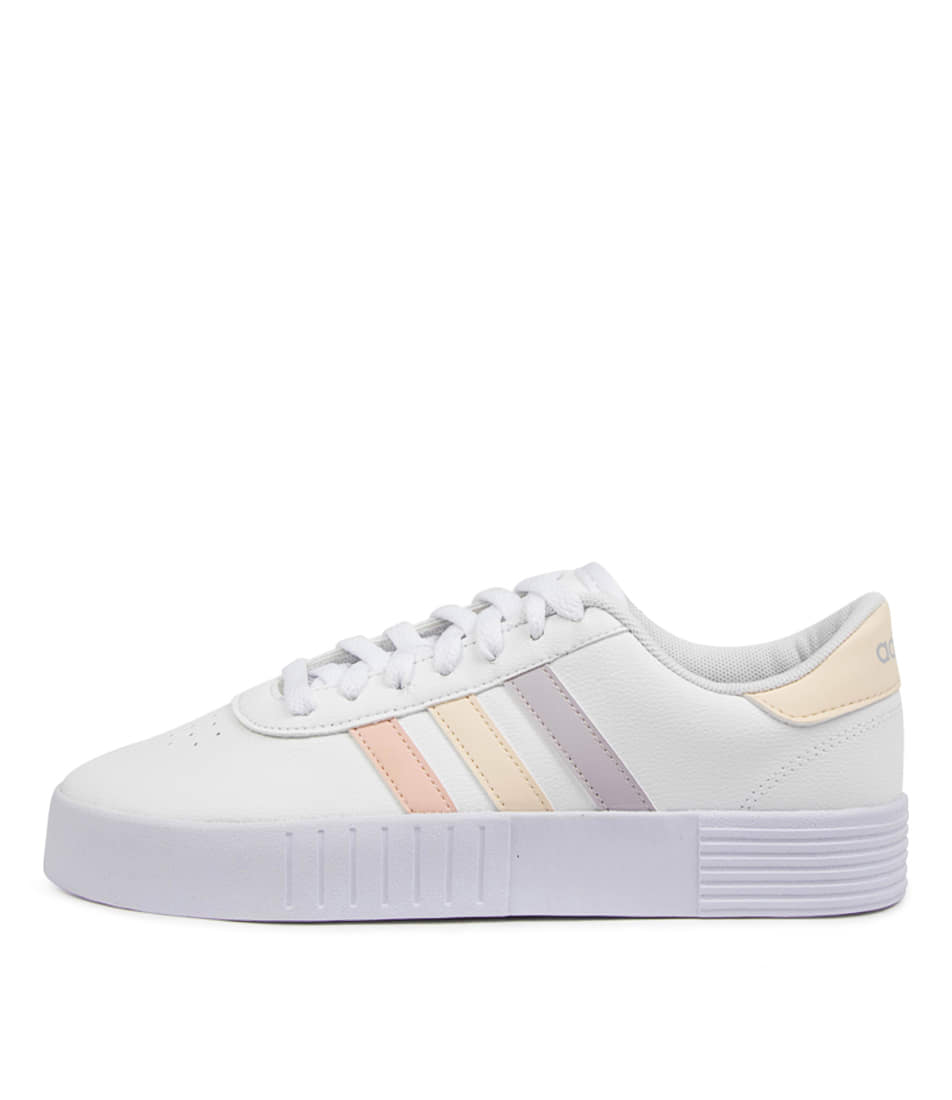 Buy Adidas Court Bold W Ad White Pink Sneakers online with free shipping