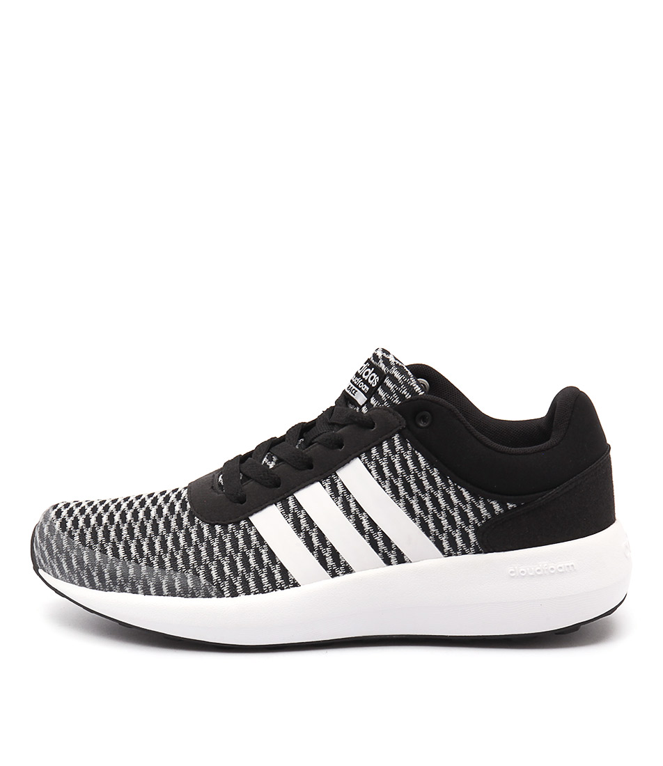 Adidas Neo Cloudfoam Race Black White Bla Sneakers