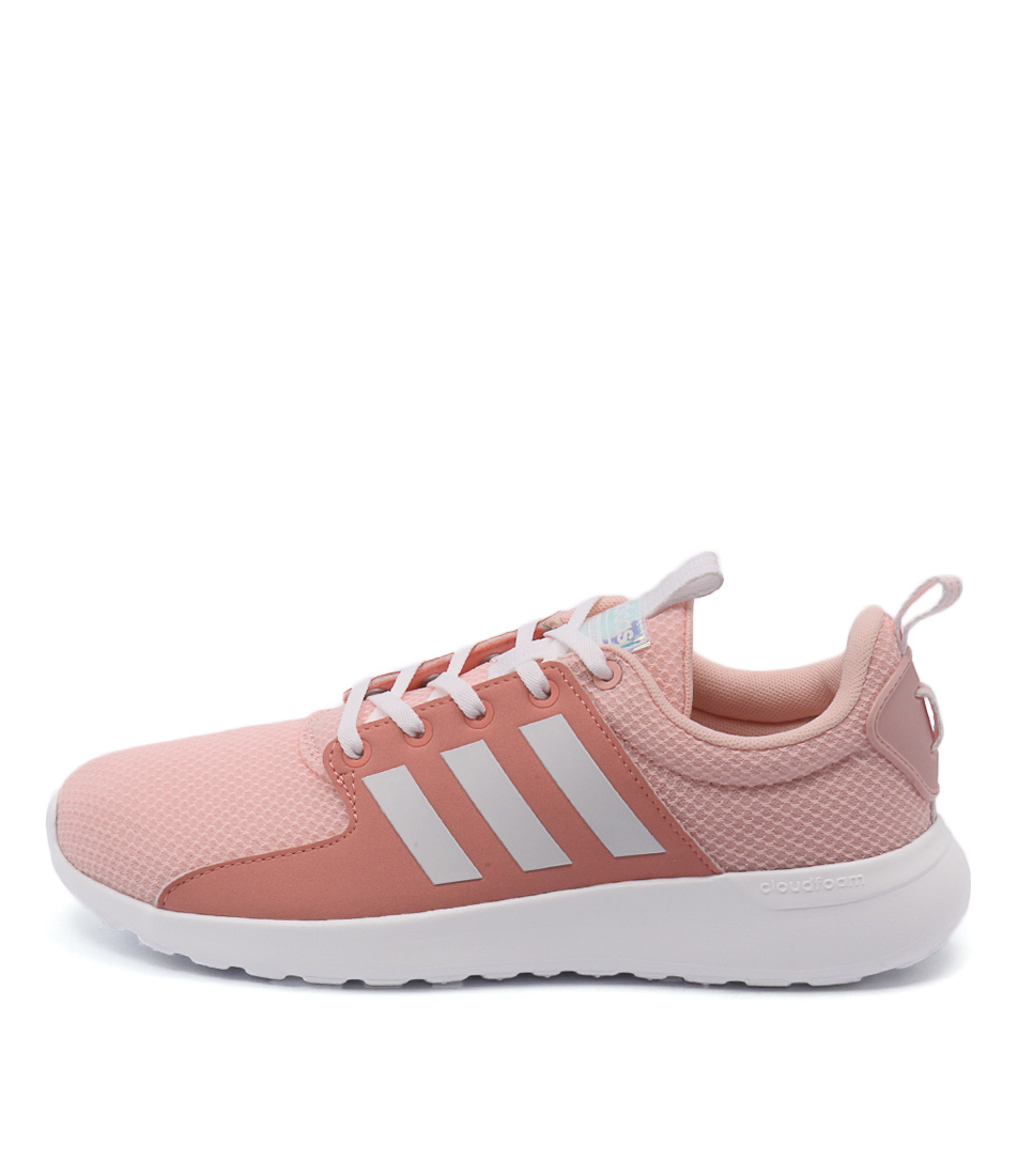 Adidas Neo Cloudfoam Lite Racer Coral White Sun Sneakers