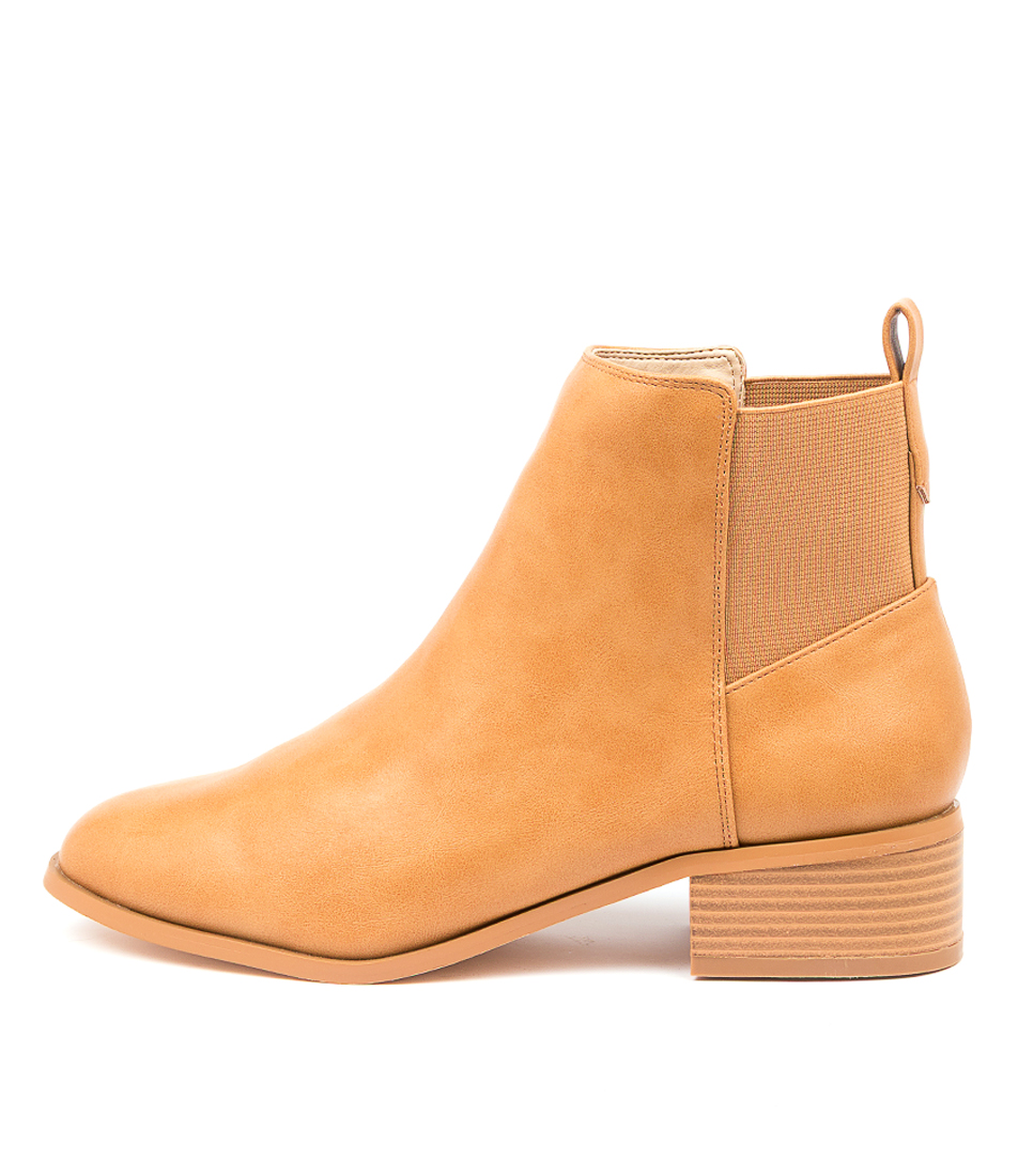 Buy A:List Aniston Ai Tan Ankle Boots online with free shipping