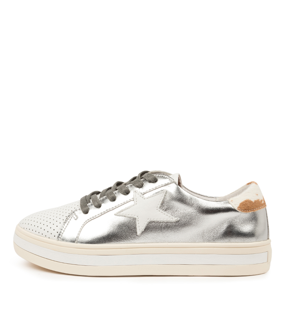 Buy Alfie & Evie Pixie Al Silver Multi Sneakers online with free shipping