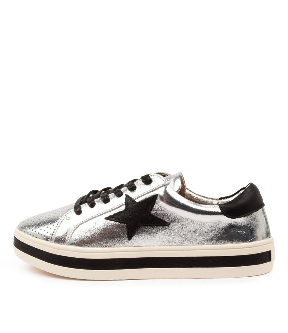 Buy Alfie & Evie Pixie Al Silver Sneakers online with free shipping