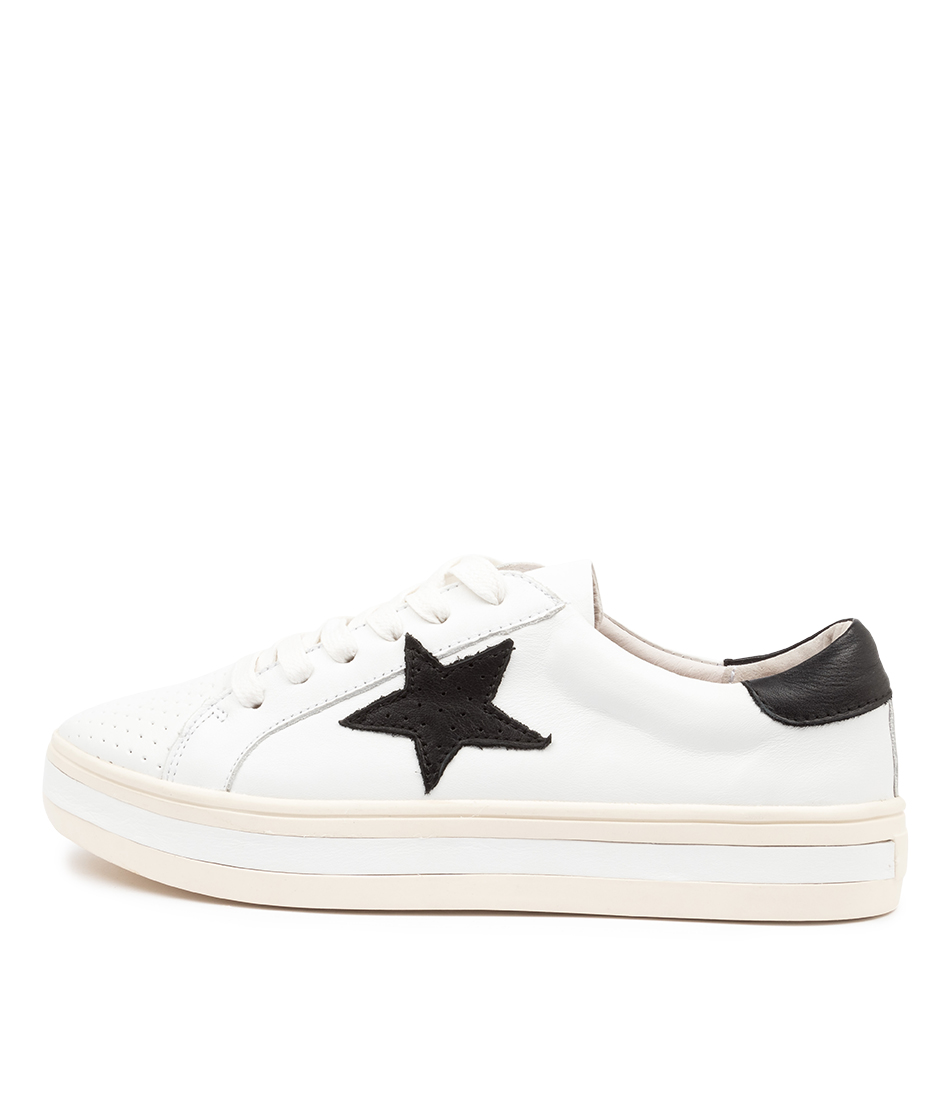 Buy Alfie & Evie Pixie Al White Sneakers online with free shipping