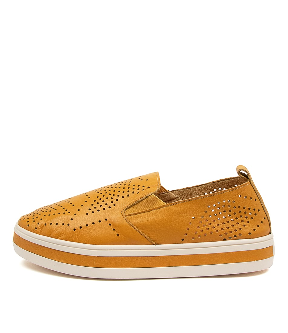 Buy Alfie & Evie Pinky Al Mustard Sneakers online with free shipping