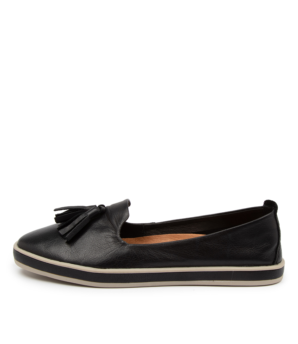 Buy Alfie & Evie Golden Al Black Flats online with free shipping