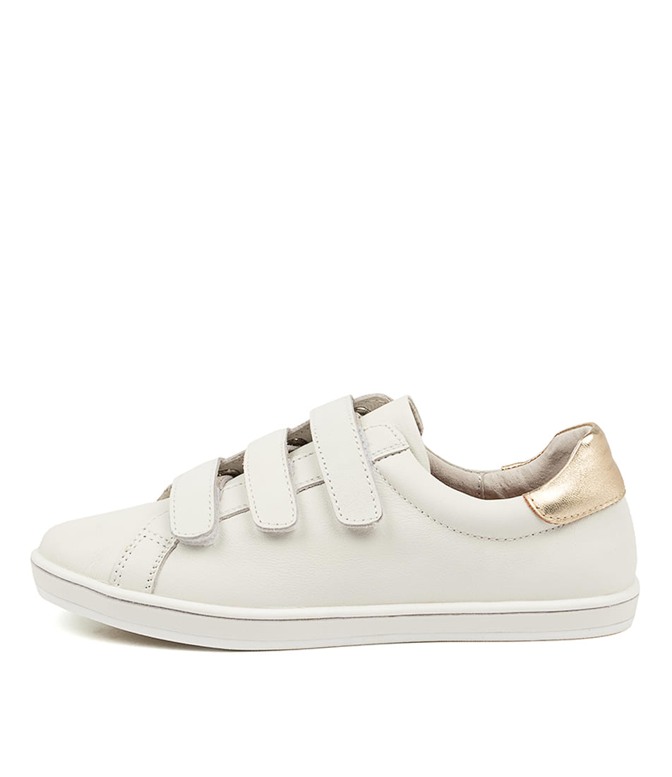 Buy Alfie & Evie Geoffrey Al White Gold Sneakers online with free shipping