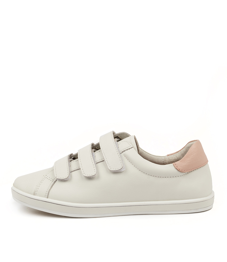 Buy Alfie & Evie Geoffrey Al White Blush Sneakers online with free shipping