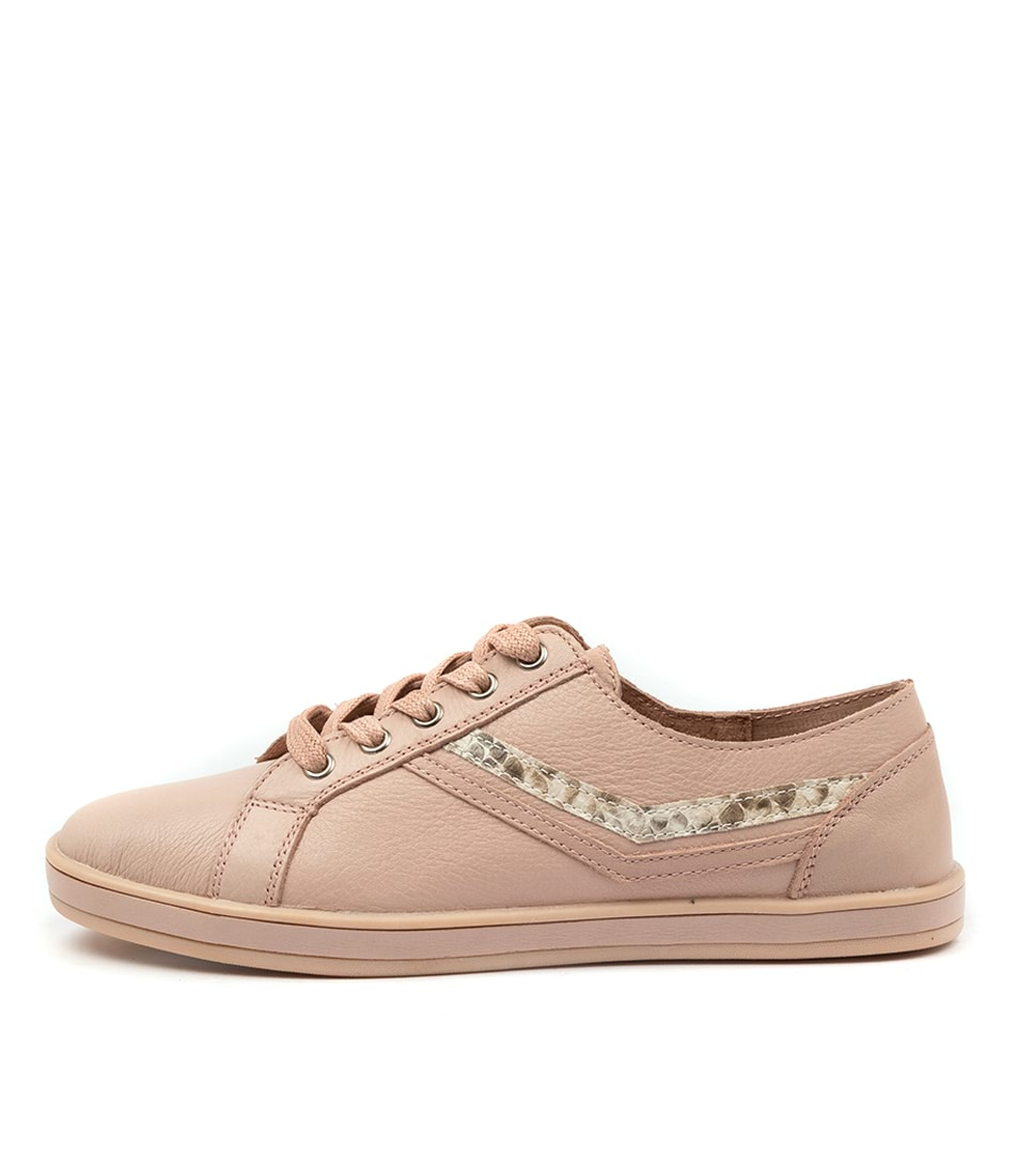 Buy Alfie & Evie Gretchen Al Blush Snake Sneakers online with free shipping