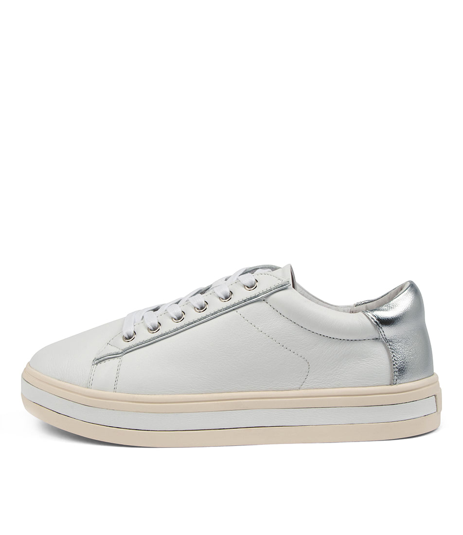Buy Alfie & Evie Panache Al White Silver Sneakers online with free shipping
