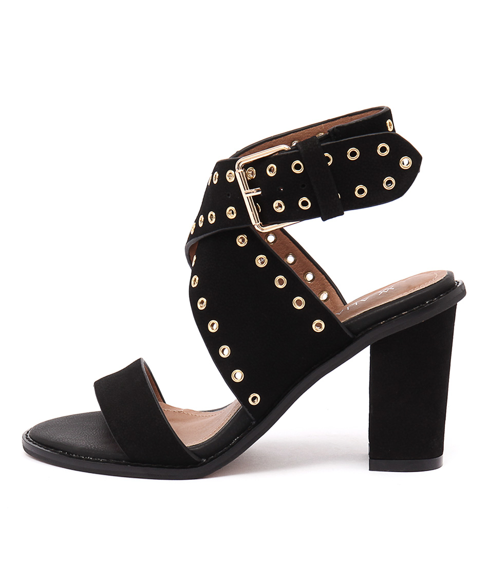 Alias Mae Eliah Black Dress Heeled Sandals