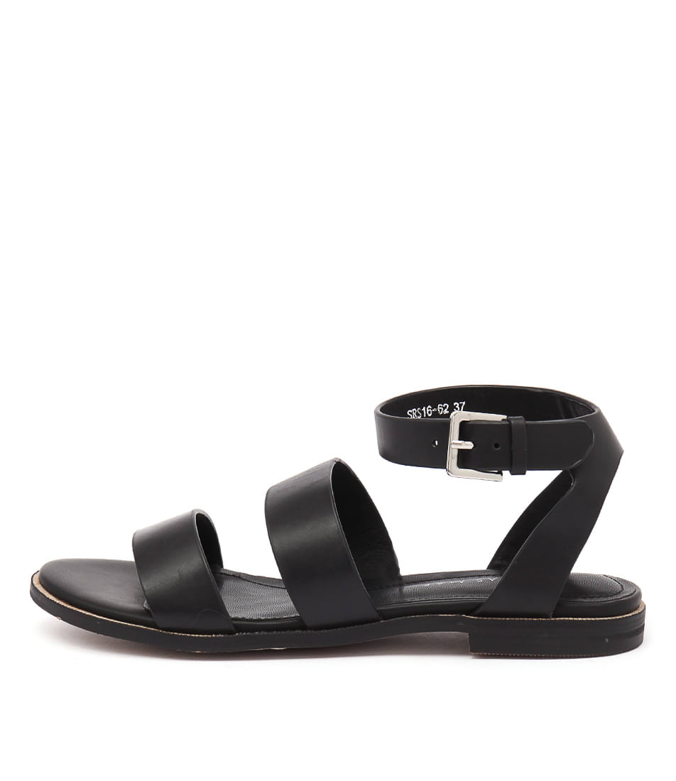 Alias Mae Thabitha Black Casual Flat Sandals