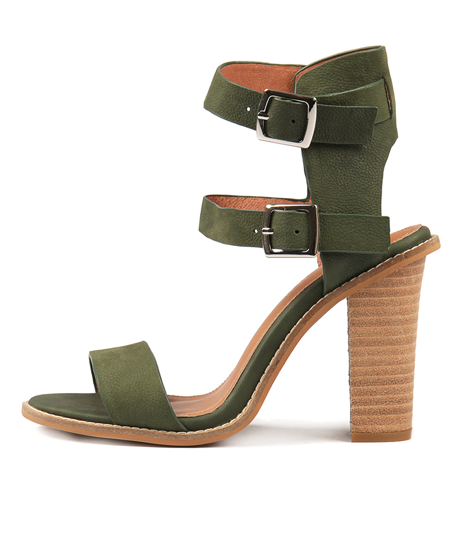 Alias Mae Casper Khaki Heeled Sandals
