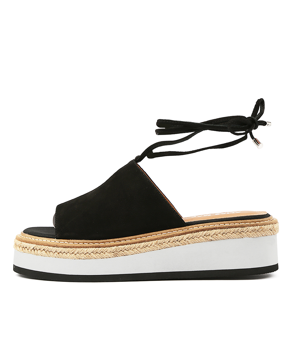Buy Alias Mae Nickel Am Black Flat Sandals online with free shipping