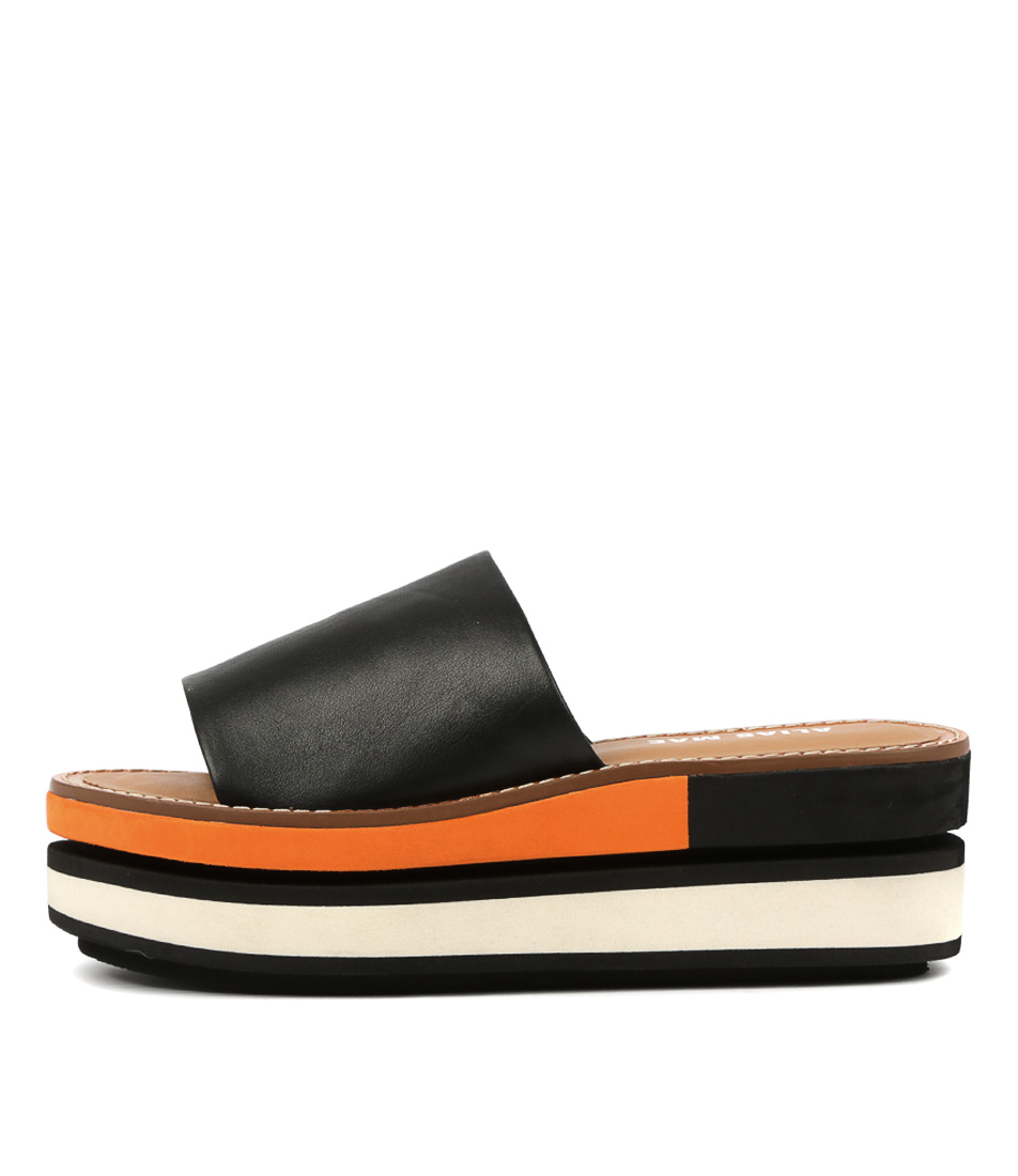 Buy Alias Mae Mimi Am Black Flat Sandals online with free shipping