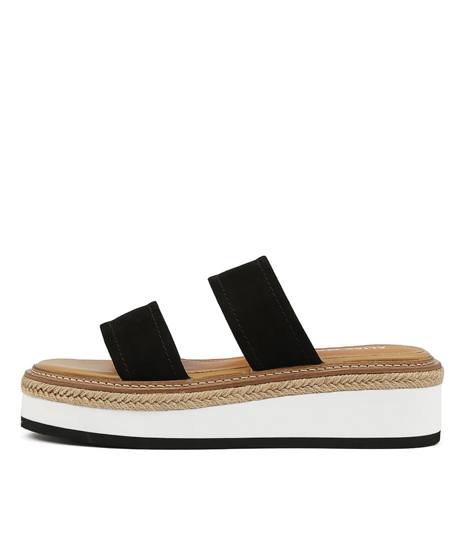 Buy Alias Mae Niacin Black Flat Sandals online with free shipping