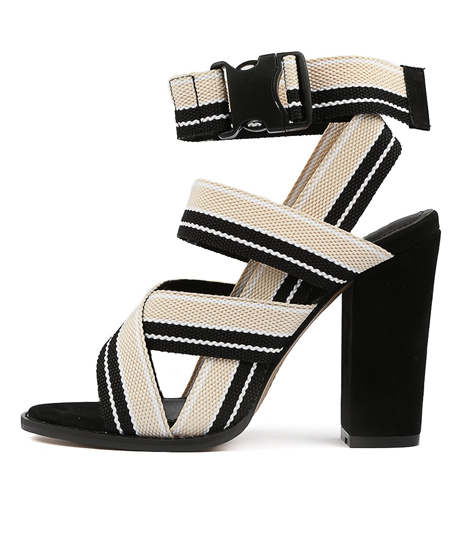 Buy Alias Mae Aaliyah Nude Black Heeled Sandals online with free shipping