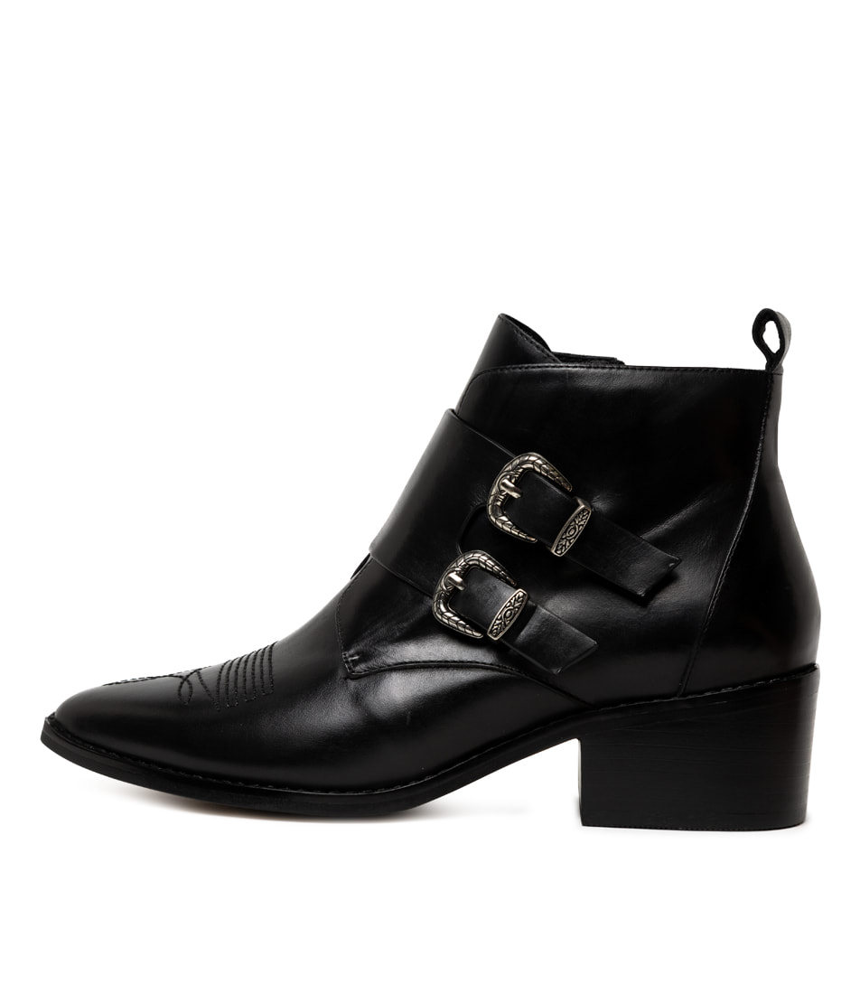 Buy Alias Mae Sara Am Black Ankle Boots online with free shipping
